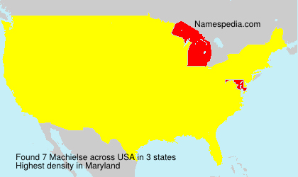 Surname Machielse in USA