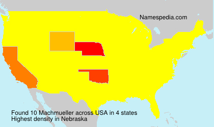 Surname Machmueller in USA