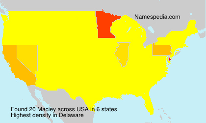 Surname Maciey in USA