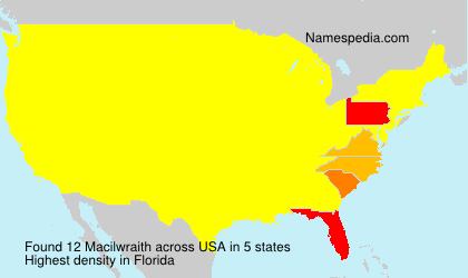 Surname Macilwraith in USA