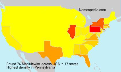 Surname Maciulewicz in USA
