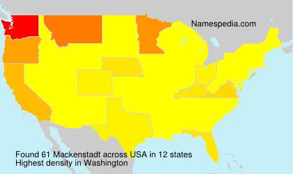 Surname Mackenstadt in USA