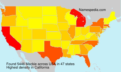Surname Mackie in USA
