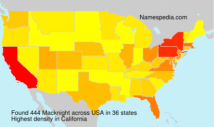 Surname Macknight in USA