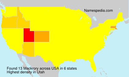 Surname Mackrory in USA