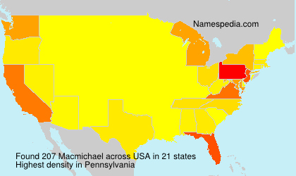 Surname Macmichael in USA