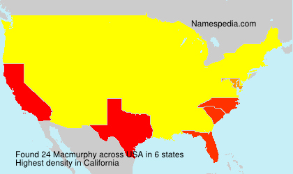 Surname Macmurphy in USA