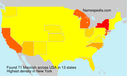 Surname Macnish in USA
