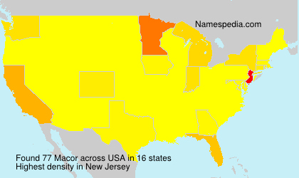 Surname Macor in USA