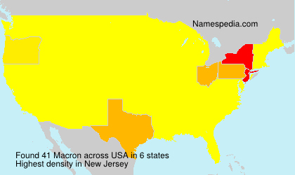 Surname Macron in USA