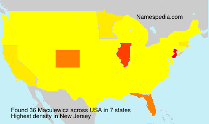 Surname Maculewicz in USA