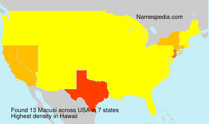 Surname Macusi in USA