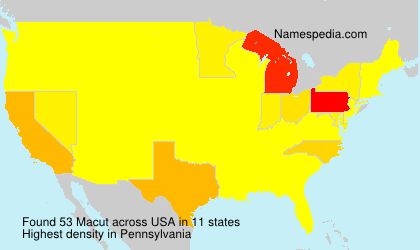Surname Macut in USA