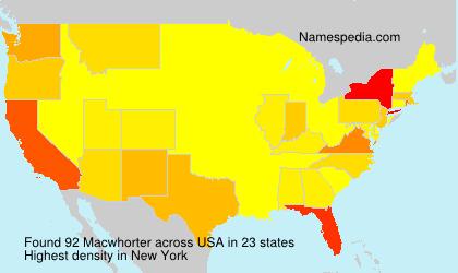 Surname Macwhorter in USA
