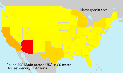 Surname Mada in USA