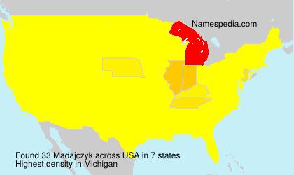 Surname Madajczyk in USA