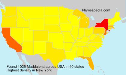 Surname Maddalena in USA