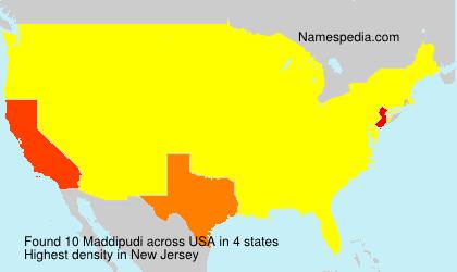 Surname Maddipudi in USA