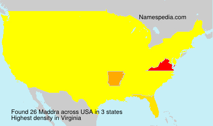Surname Maddra in USA