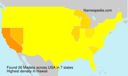 Surname Madela in USA
