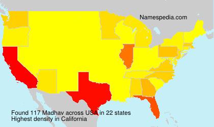 Surname Madhav in USA