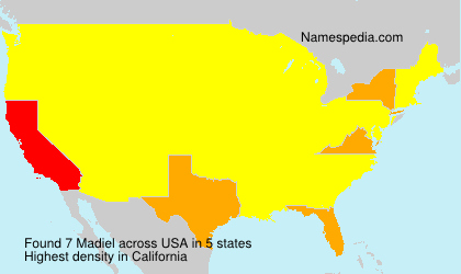 Surname Madiel in USA