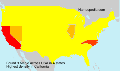 Surname Madje in USA