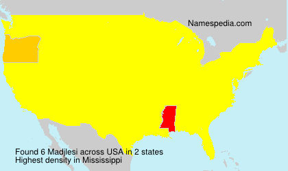 Surname Madjlesi in USA