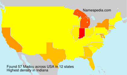 Surname Madou in USA