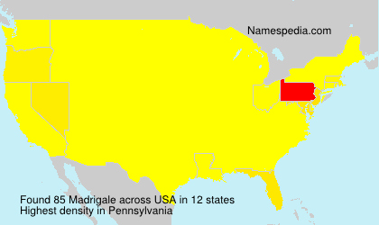 Surname Madrigale in USA