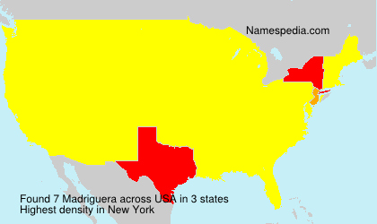 Surname Madriguera in USA