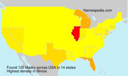 Familiennamen Madro - USA