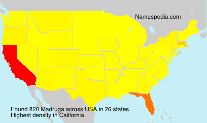 Surname Madruga in USA