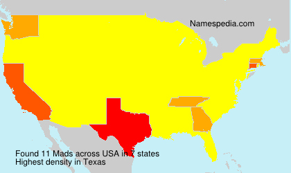 Surname Mads in USA