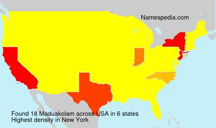 Surname Maduakolam in USA