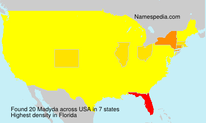 Surname Madyda in USA