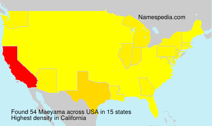 Surname Maeyama in USA
