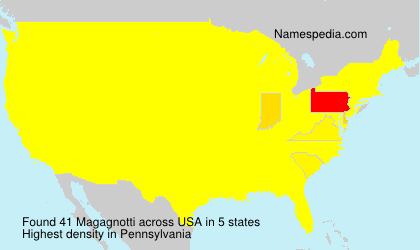 Surname Magagnotti in USA