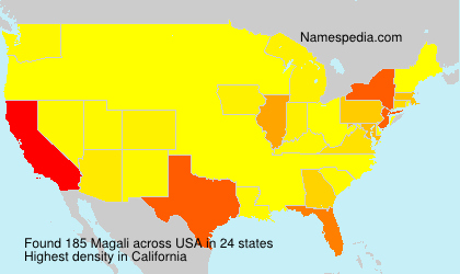 Surname Magali in USA