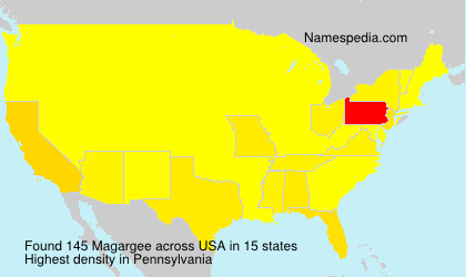 Surname Magargee in USA