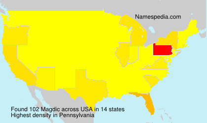 Surname Magdic in USA