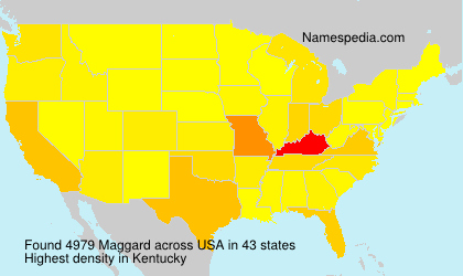 Surname Maggard in USA