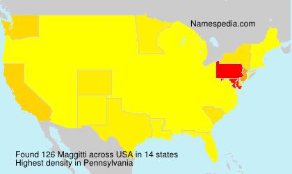 Familiennamen Maggitti - USA