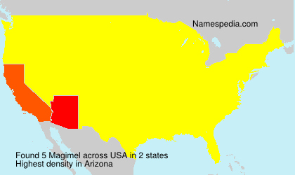Surname Magimel in USA
