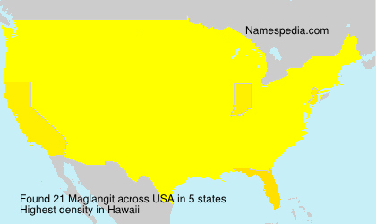 Familiennamen Maglangit - USA