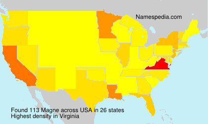 Surname Magne in USA