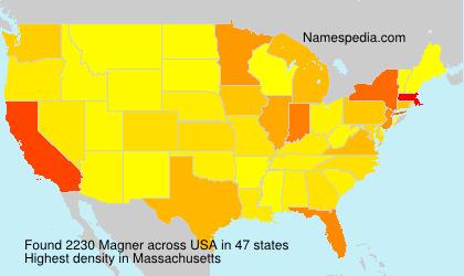 Surname Magner in USA