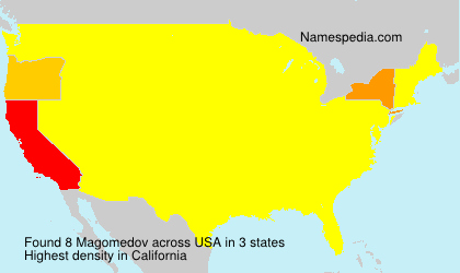 Surname Magomedov in USA