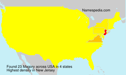 Surname Magory in USA