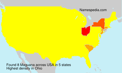 Surname Maguana in USA